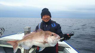 2019.1.10  真鯛78センチ 5、8キロ